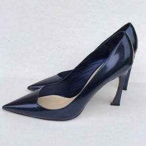 DIOR Navy Blue Pointed Toe Pumps Size 39.5 (8.5)